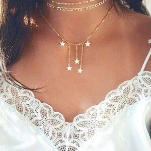 Jewelry - 4 for $25✨star waterfall choker layer necklace